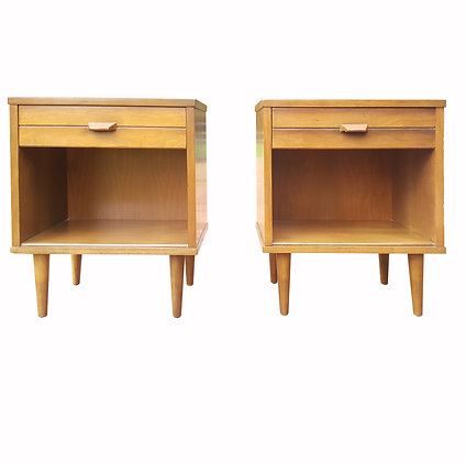 A Pair of mid century modern night stands