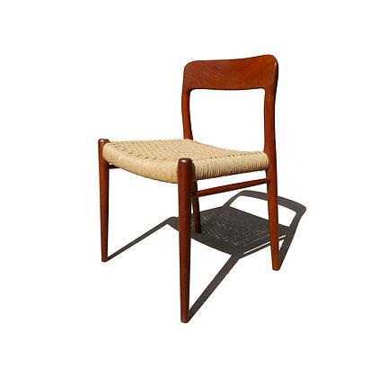Mid-Century teak dining chair by Niels Møller model 75