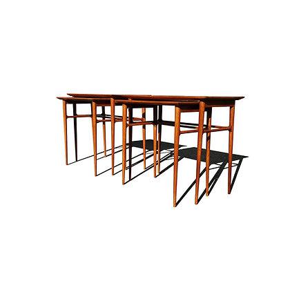 A pair of mid-century modern Brazilian nesting tables