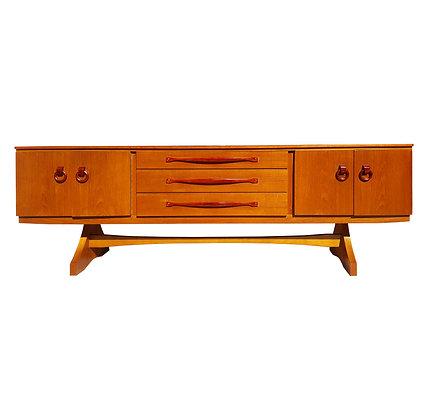 American mid-century modern teakwood sideboard / credenza