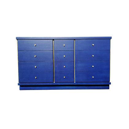 A mid-century modern - MCM - blue Klein dresser - credenza