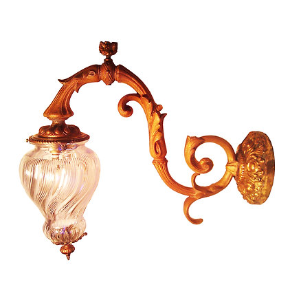 A pair of French bronze and cut crystal sconces / lanternes