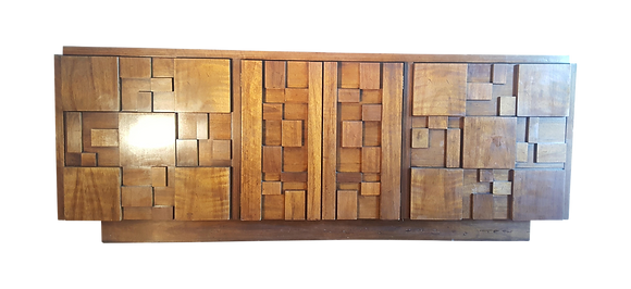 Paul Evans style Brutalist sidboard / credenza by Lane