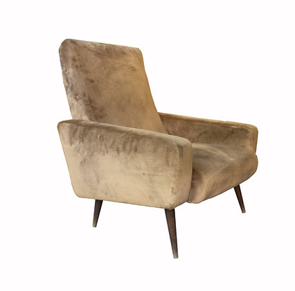 A pair of French mid century modern 1950's armchair