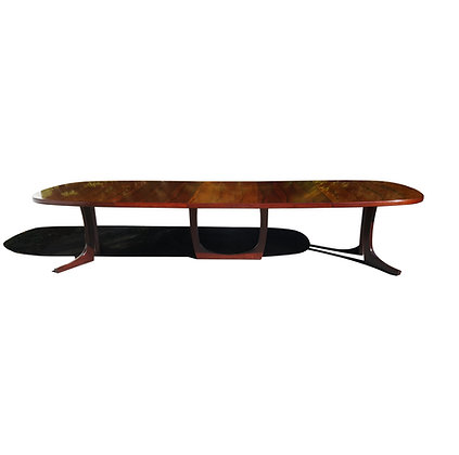 Monumental Danish modern rosewood Kai Kristiansen conference table / dining tabl