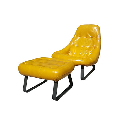 Mid century modern space age Percival Lafer Earth lounge chair and ottoman