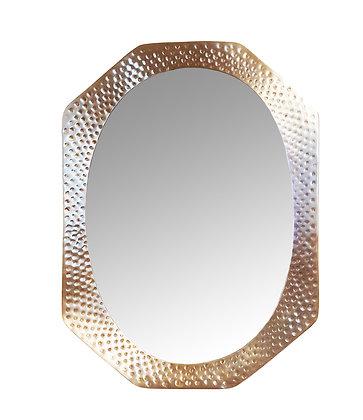 Mid century modern Italian brass mirror