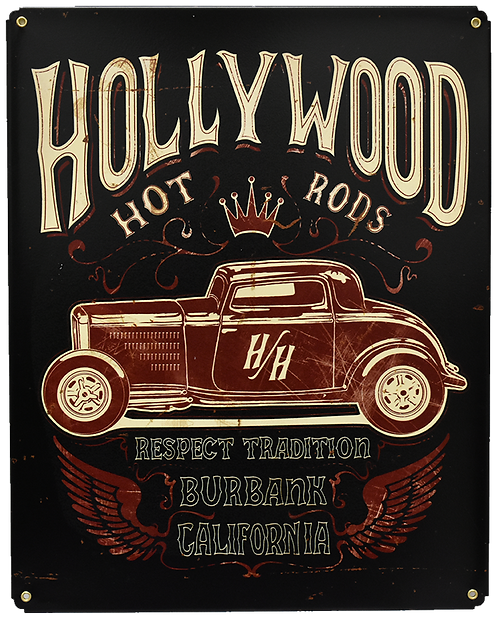 Red Roadster Sign