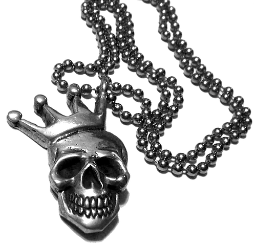 Skull & Crown pendant & chain
