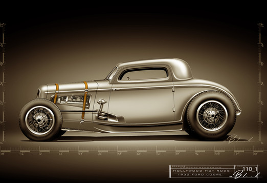 "32 Ford Bugatti Inspired Coupe - ""The Gaunt Coupe"""