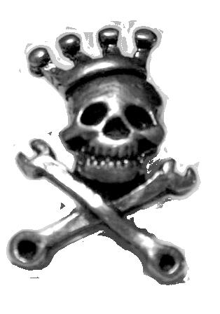 Skull & Crown lapel pin