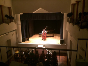 Performing in Arcidosso, Italy