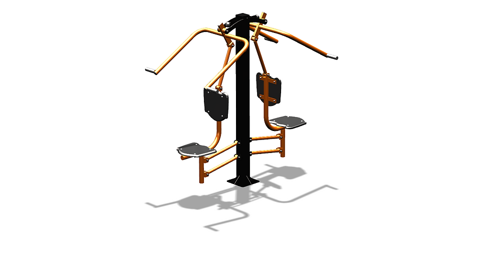 Тренажер уличный «Верхняя тяга двойной»