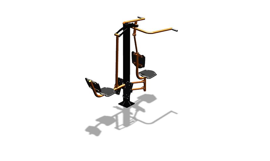 Тренажер уличный «Верхняя тяга_жим ног»