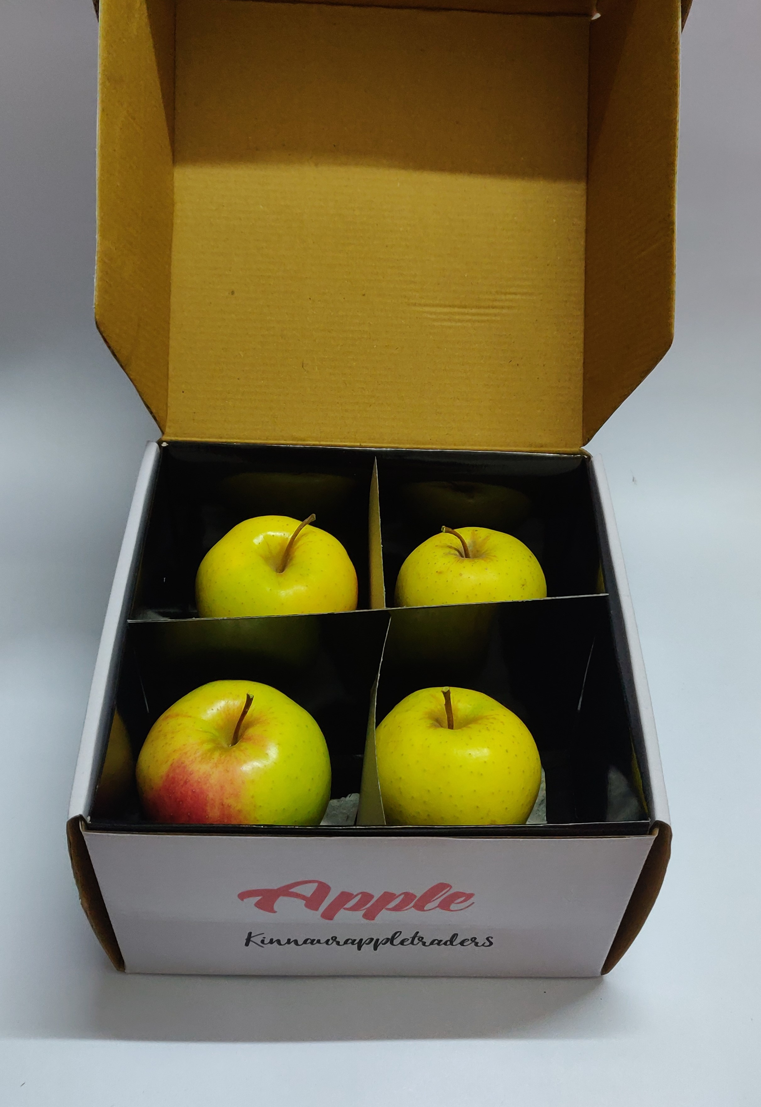 Golden apples packed