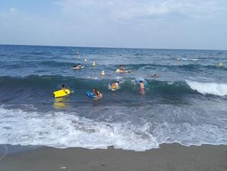 Kayak et body-surf session du 23 juillet