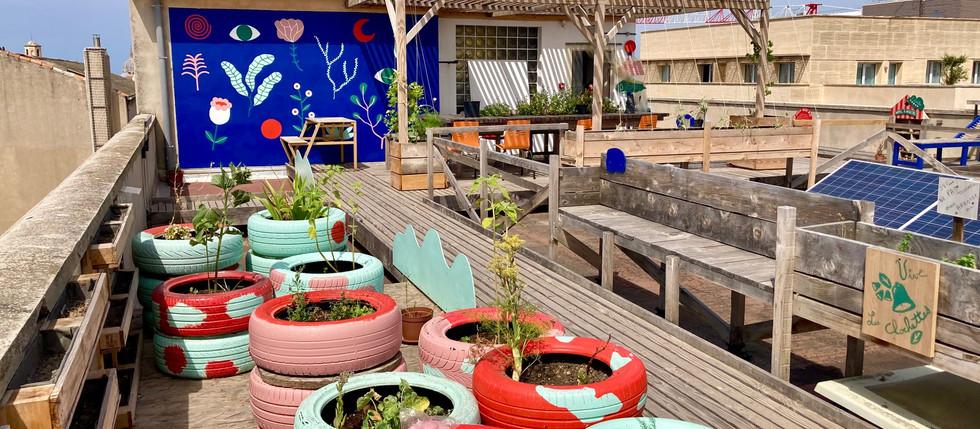 Sur le toit de Coco Marseille