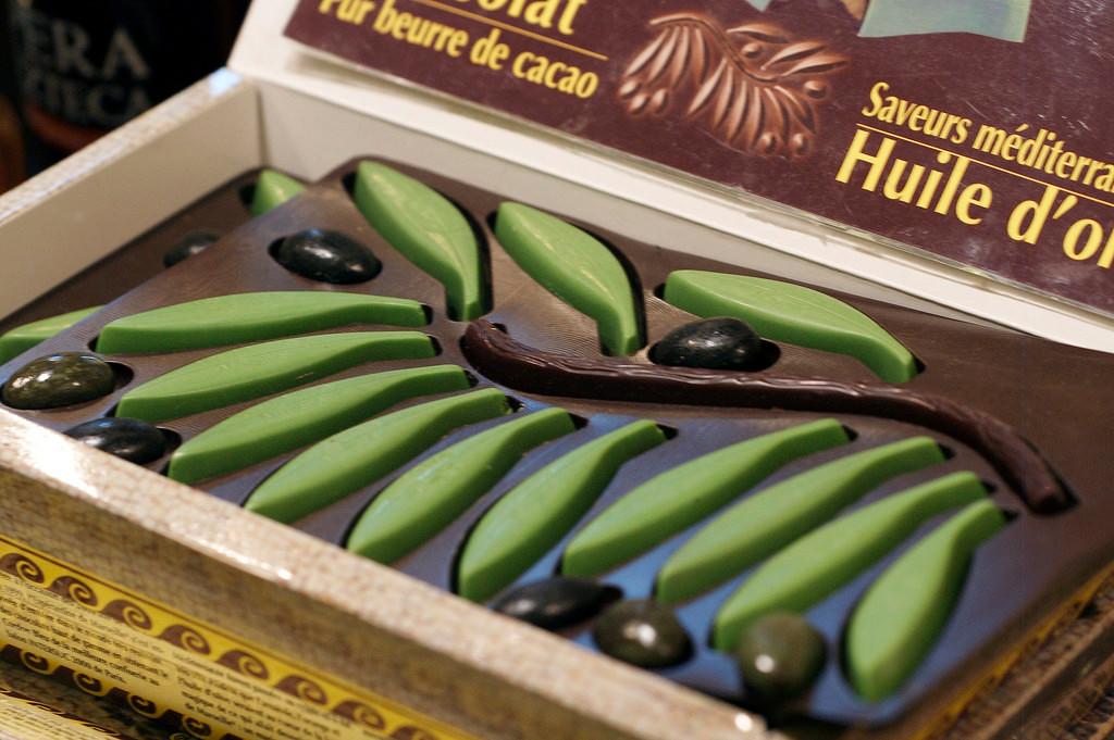 Chocolats à l'huile d'olive