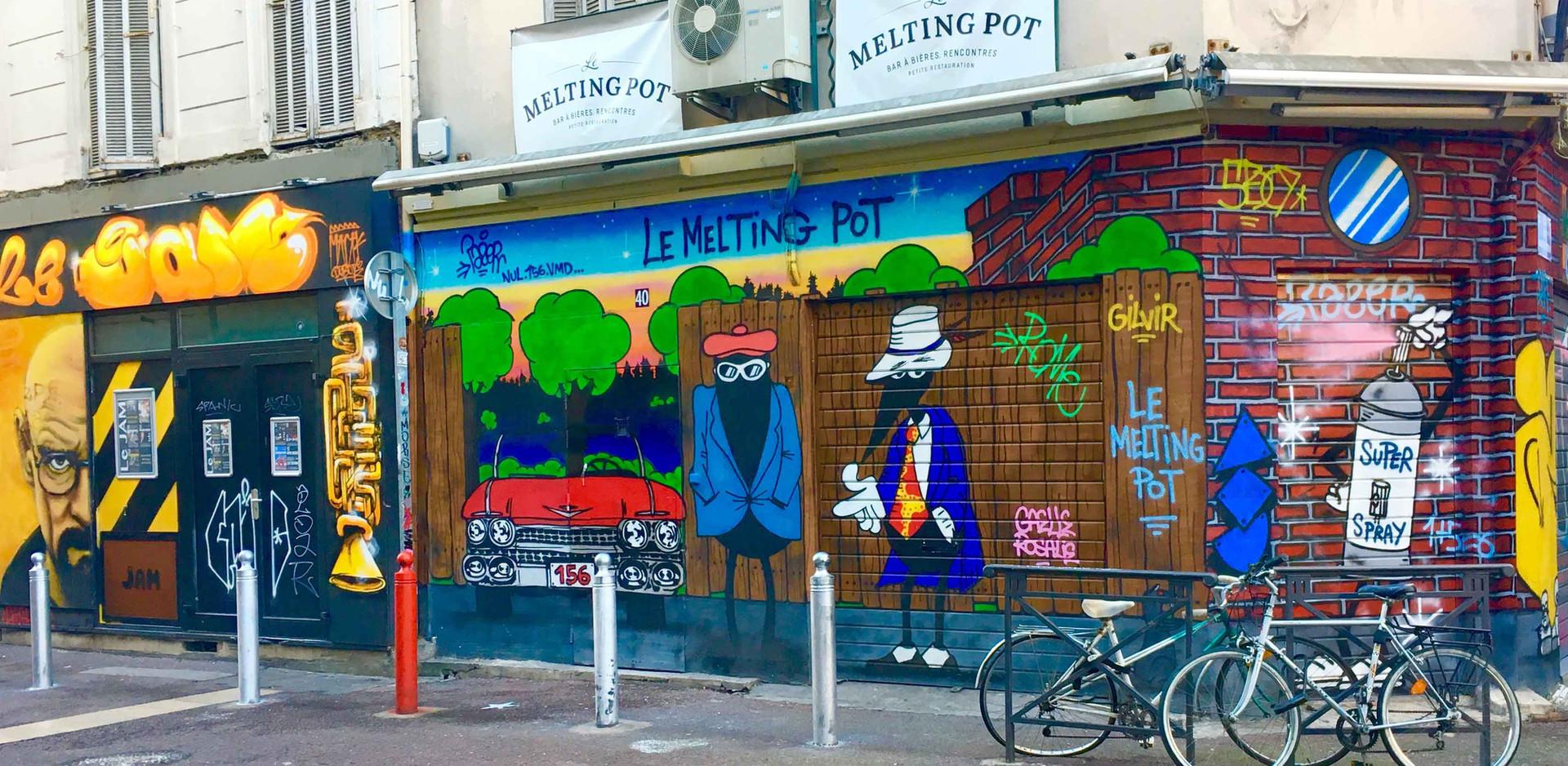 Le quartier du street art Cours Julien Marseille