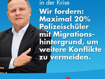 Berliner Polizeischüler müssen ganz überwiegend Deutsche sein