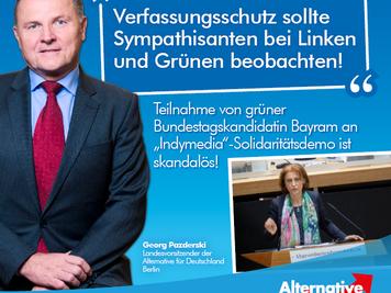 "Teilnahme von grüner Bundestagskandidatin an ""Indymedia""-Solidaritätsdemo ist skandalös / Verfassung"