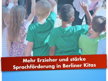 Mehr Erzieher und stärke Sprachförderung in Berliner Kitas