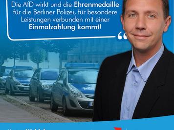 AfD wirkt - Ehrenmedaille für Berliner Polizei kommt