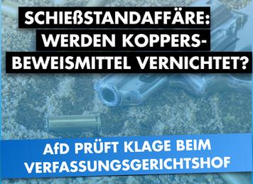 Koppers-Beweismittel vernichtet / Ausschusssitzung ggf. einklagen