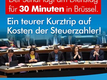 R2G-Klassenfahrt nach Brüssel ist verantwortungsloser Umfang mit Steuergeldern