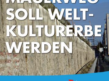 Mauerweg soll Weltkulturerbe werden