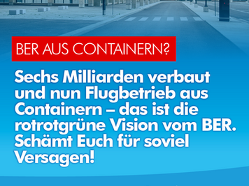 BER-Containerdorf ist einer Hauptstadt unwürdig