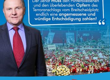 Opfer und Angehörige vom Breitscheidplatz angemessen entschädigen!