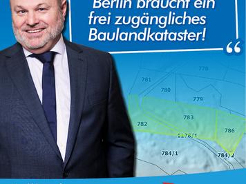 Laatsch (AfD): Berlin braucht frei zugängliches Baulandkataster