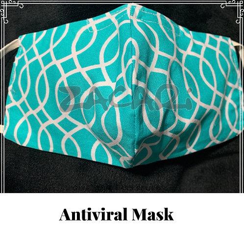 Turquoise Twist Antiviral Mask