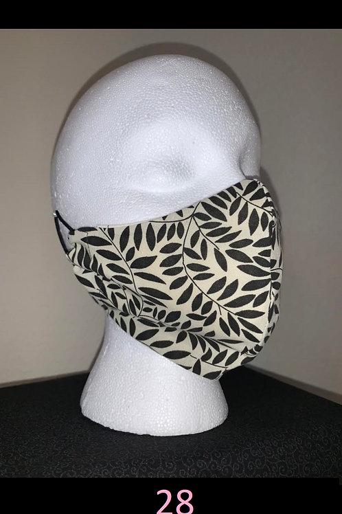Cream With Black Leaf Face Mask
