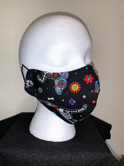 Day Of The Dead Skeleton Face Mask