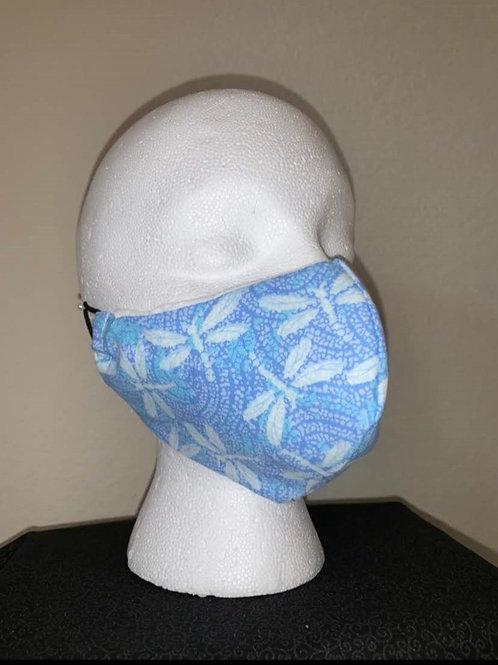Blue Firefly Dot Face Mask