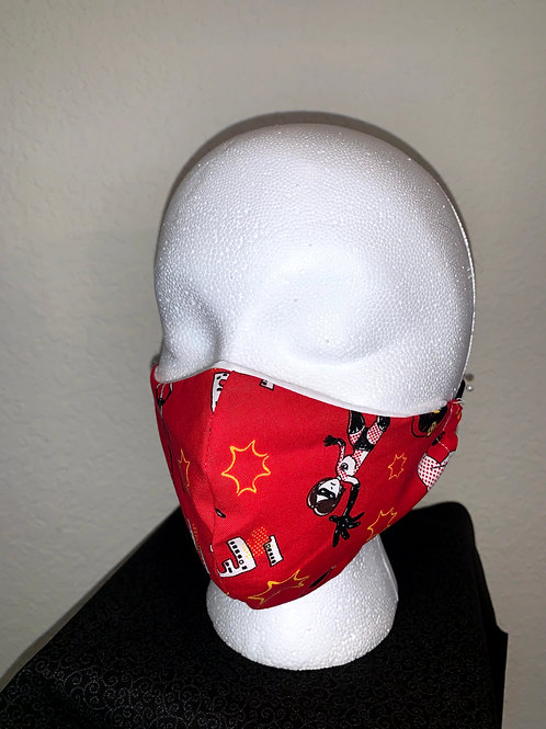 Red Incredibles Face Mask