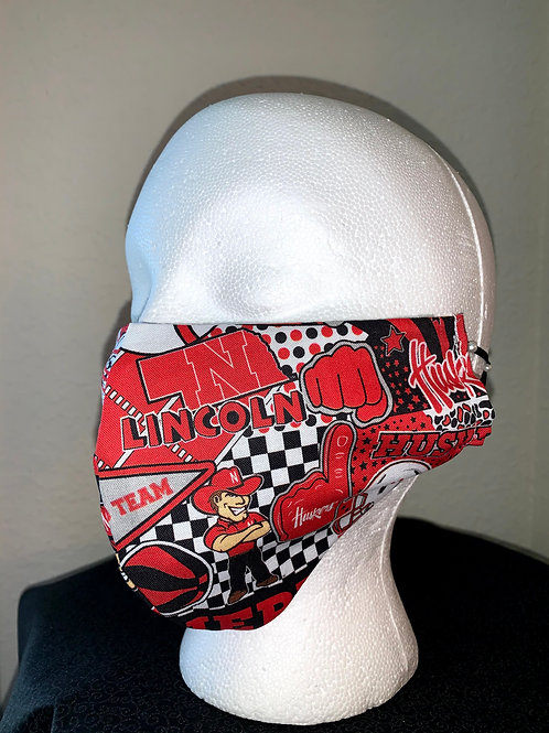 Nebraska Huskers Face Mask