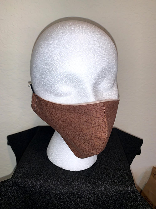 Brown Leather Look Face Mask