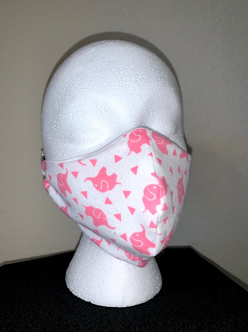 Pink Elephant Face Mask