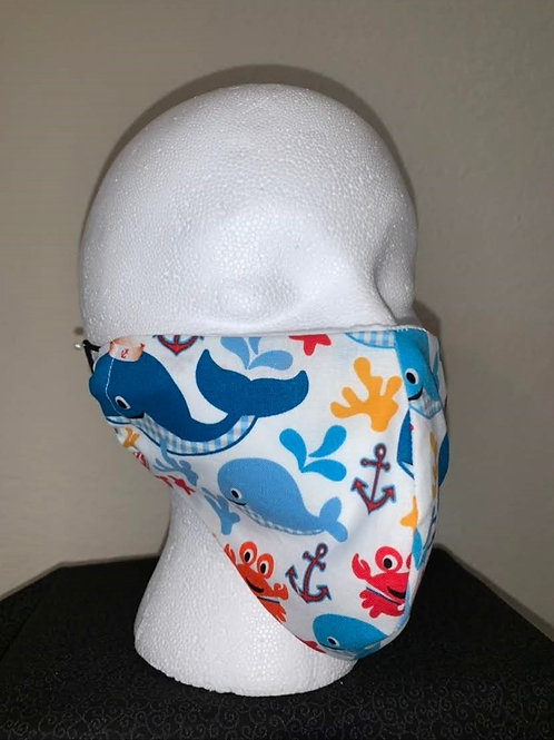 Crabby Whale Face Mask