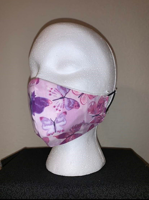 Shades Of Purple Butterfly Face Mask