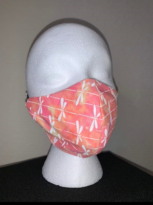 Pink/Peach Firefly Face Mask