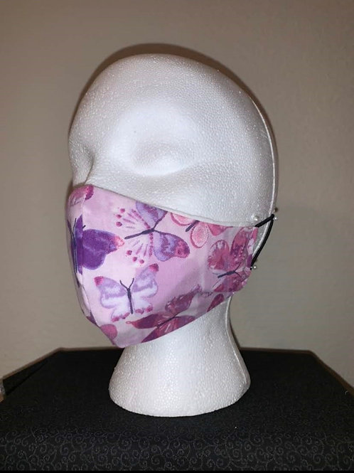 Purple With Blue Purple Leaf Face Mask