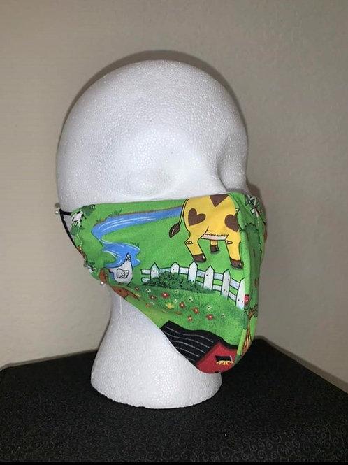 Farm Animal Face Mask