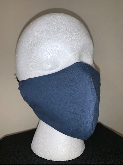 Blue Gray Face Mask