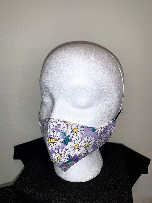 Purple With White Daisy Mask