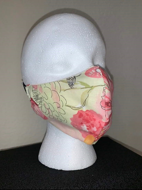 Pink/Yellow Butterfly Face Mask
