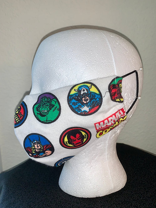 Marvel Comics Face Mask